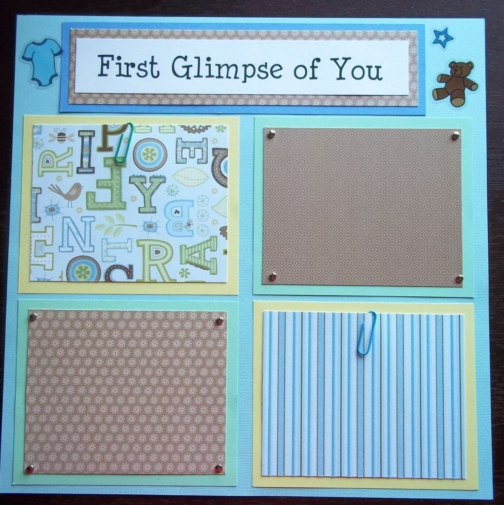 10 Fabulous Scrapbooking Ideas For Baby Boy set of 30 12x12 premade scrapbook pages baby boys 1st 12 months 1 2021