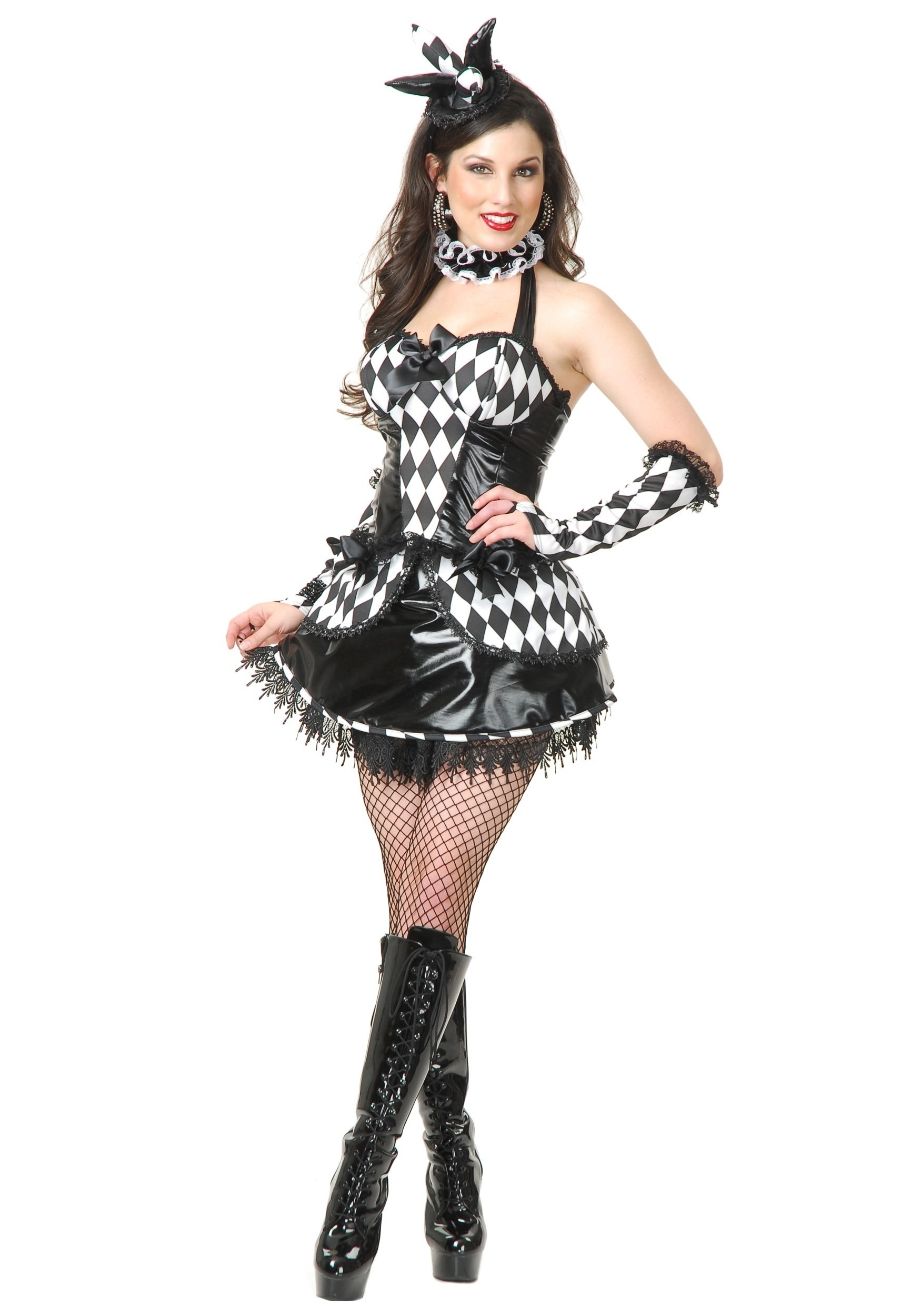 10 Best Black And White Costume Ideas sexy black and white jester costume sexy womens clown costume ideas