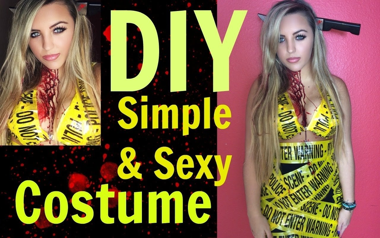 sexy & simple diy halloween costume - youtube
