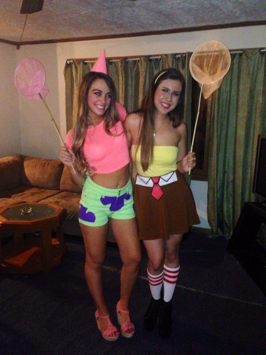 spongebob and patrick halloween costume diy   cartooncreative.co