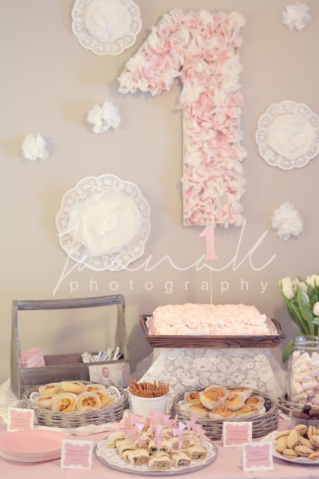 10 Unique Girl First Birthday Party Ideas shabby chic one year birthday party from sweet living and things 2020