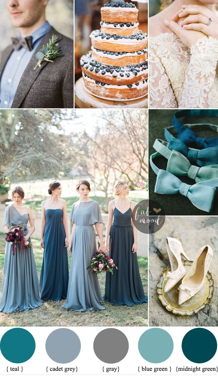 10 Beautiful Blue And Green Wedding Ideas shades of blue for wedding wedding ideas uxjj 2020