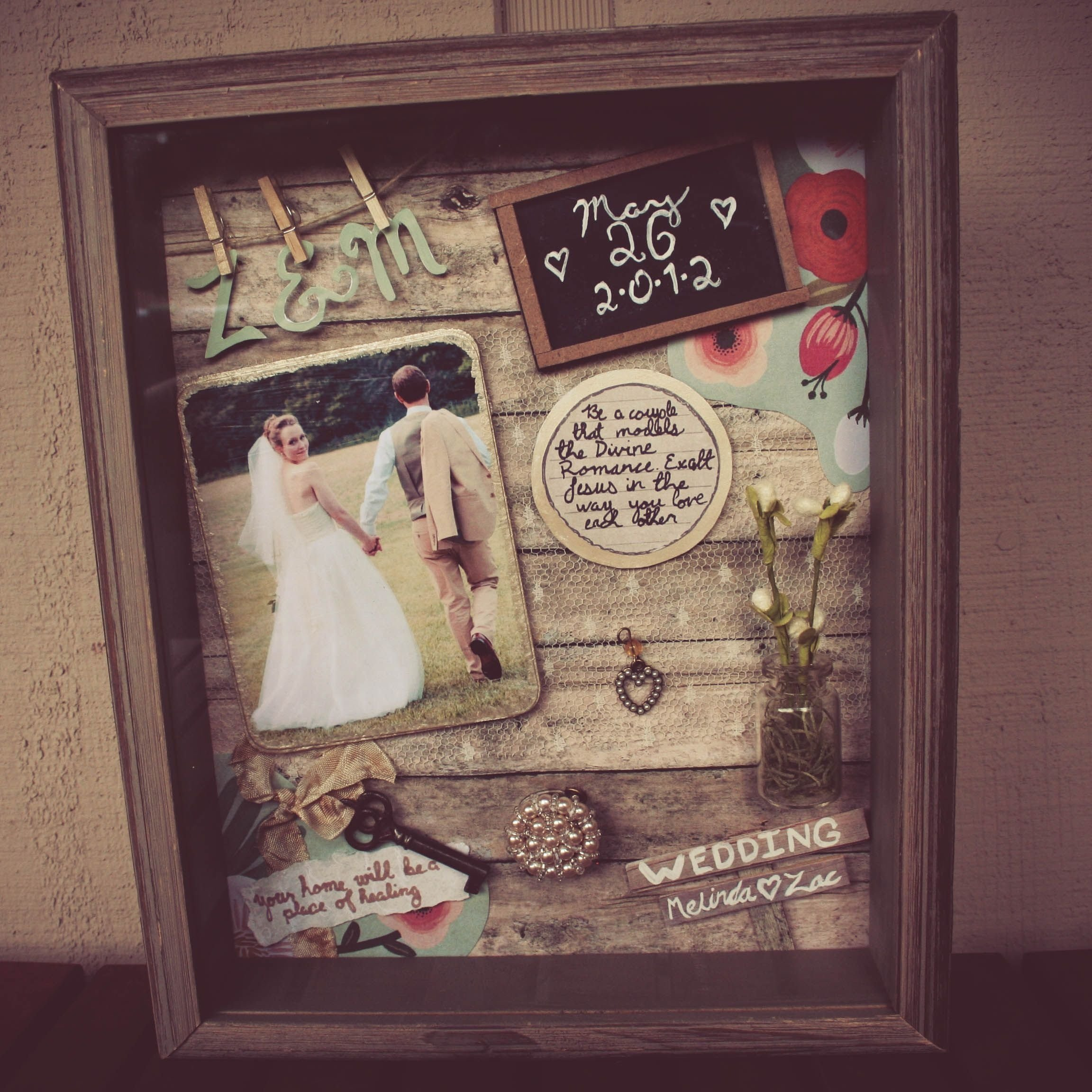 shadow box ideas to keep your memories and how to make it | wedding