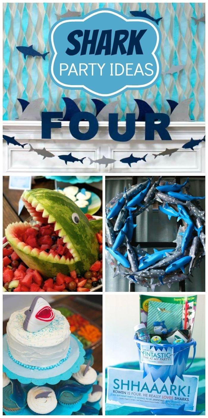 10 Amazing 5Th Birthday Party Ideas For Boys sharks birthday rowens jawsome shark party shark cupcakes 2020