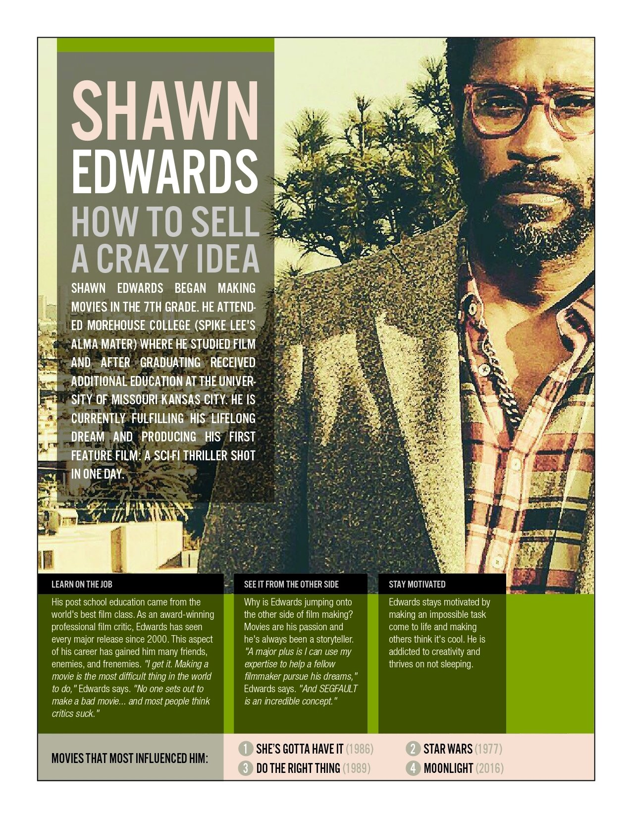 10 Gorgeous How To Sell A Movie Idea shawn edwards segfault the movie 2020