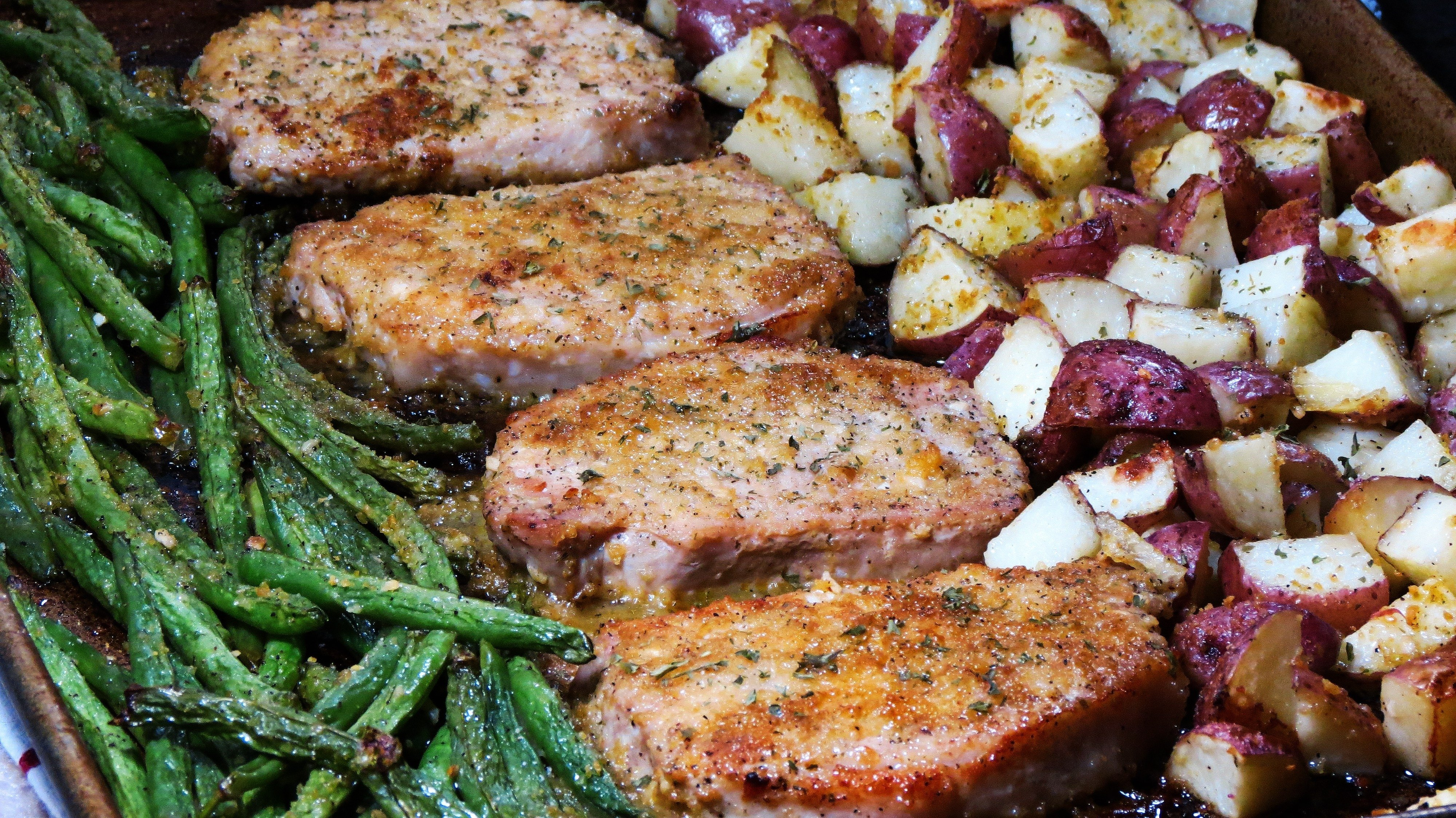 10 Stylish Dinner Ideas With Pork Chops sheet pan pork chops dinner recipe im luving this life 2021