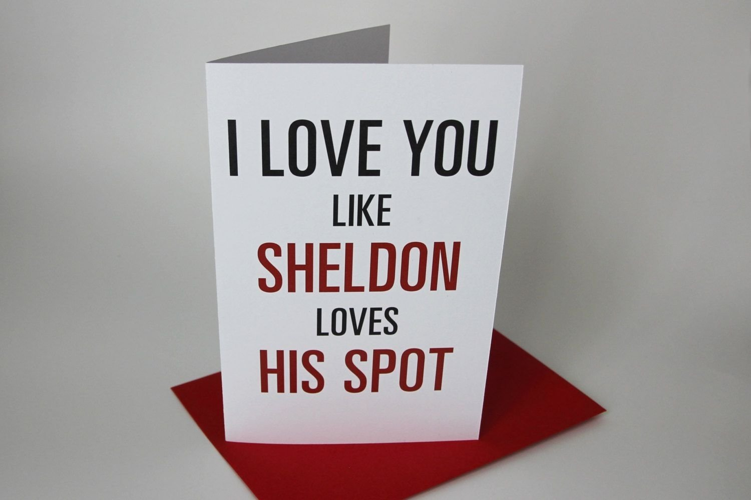10 Most Popular Big Bang Theory Gift Ideas sheldon i love you valentine card the big bang theory tv show 2020