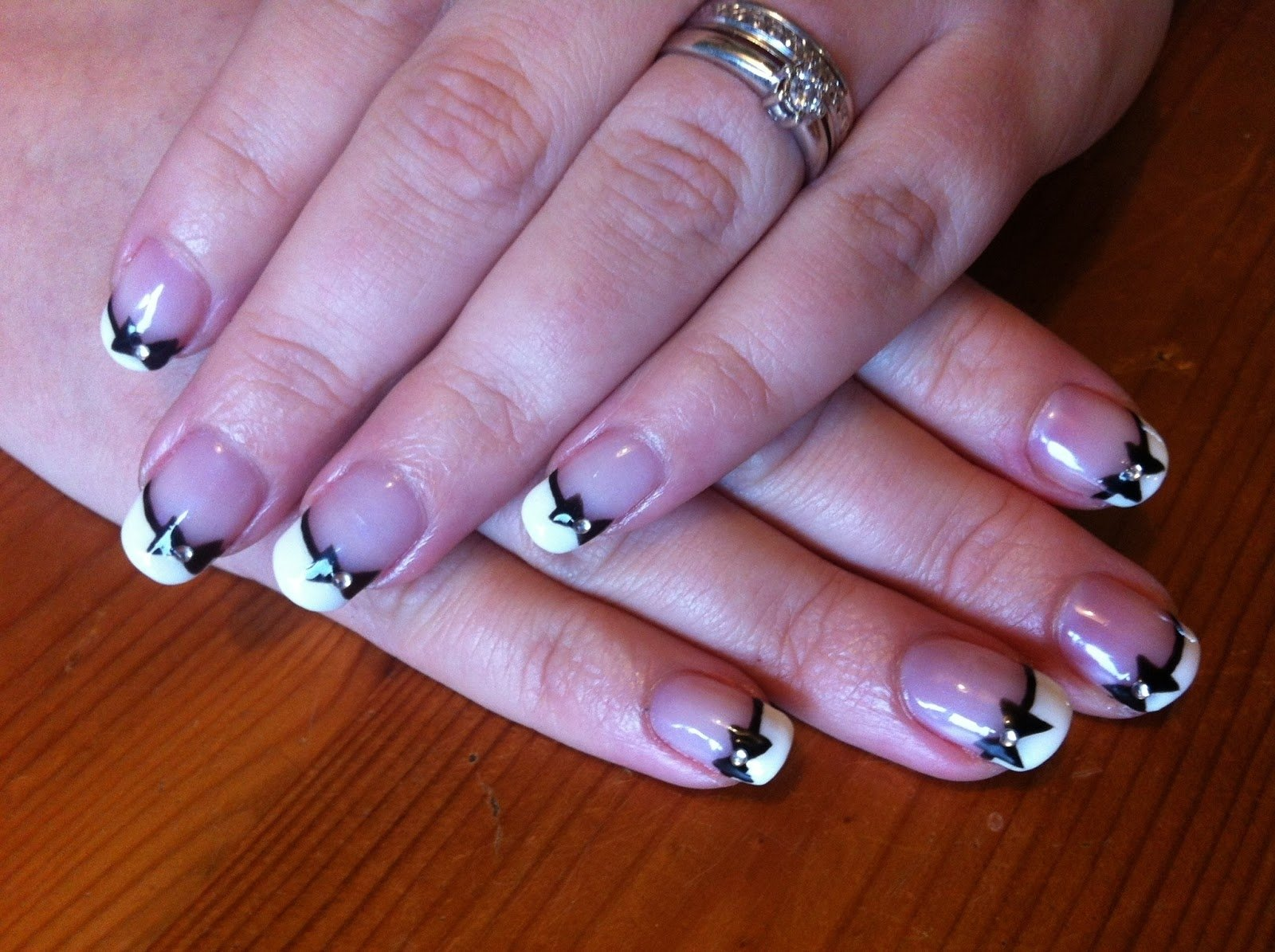 10 Awesome French Tip Nail Design Ideas shellac nails brush up and polish up cnd shellac nail art