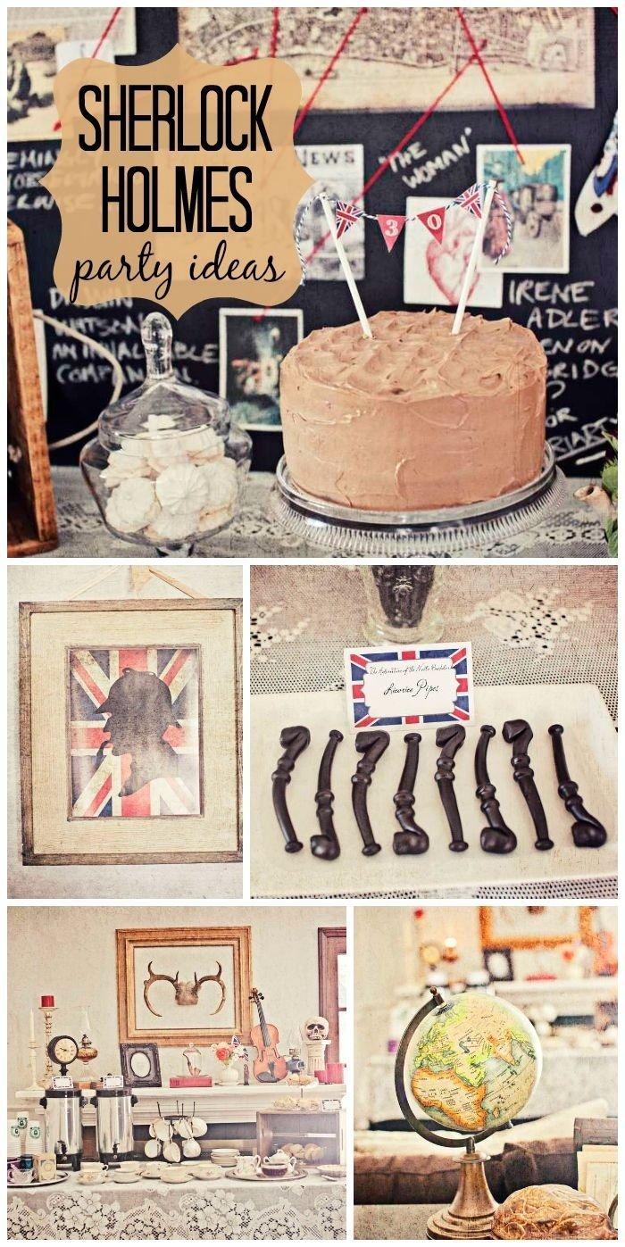 10 Fabulous Murder Mystery Dinner Party Ideas sherlock holmes birthday 30th birthday murder mystery dinner 2021