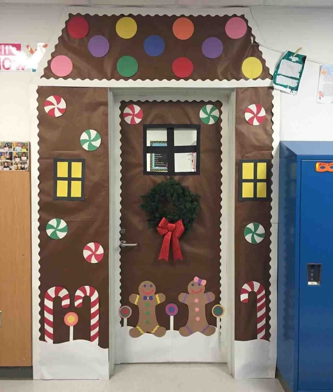 10 Gorgeous Classroom Christmas Door Decorating Contest Ideas shining ideas gingerbread house door decorating contest classroom 2020
