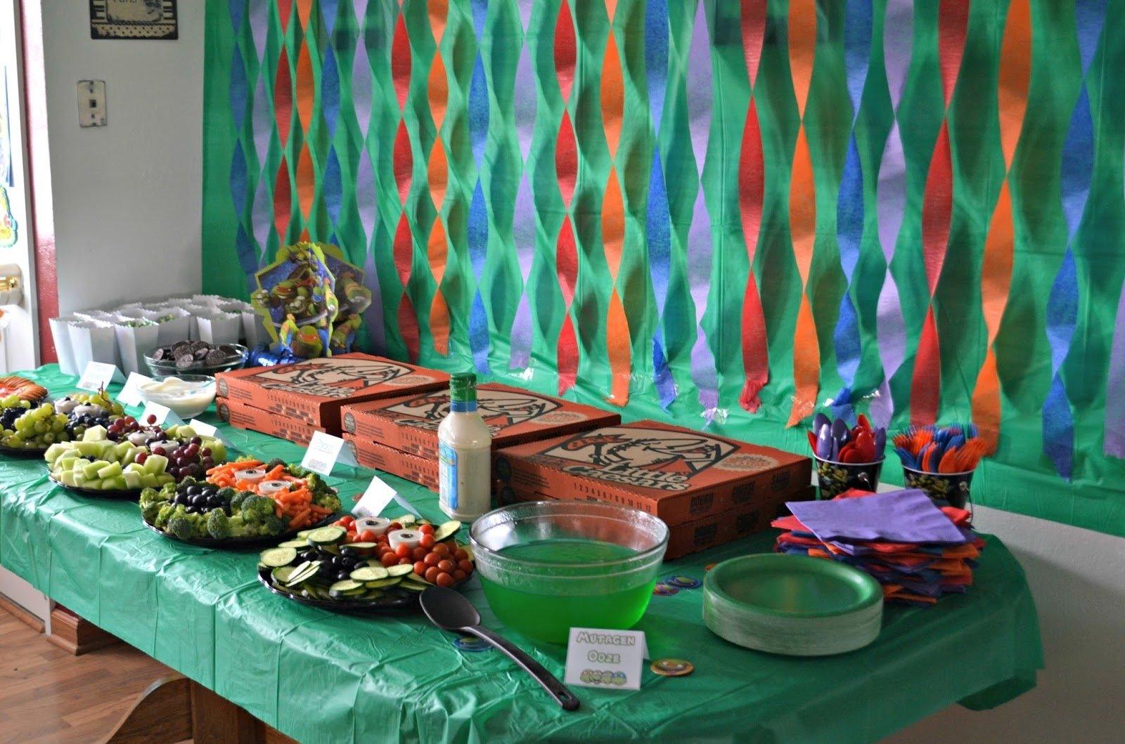 10 Best Ninja Turtle Party Decoration Ideas shocking teenage mutant ninja turtle birthday party building our 1 2020