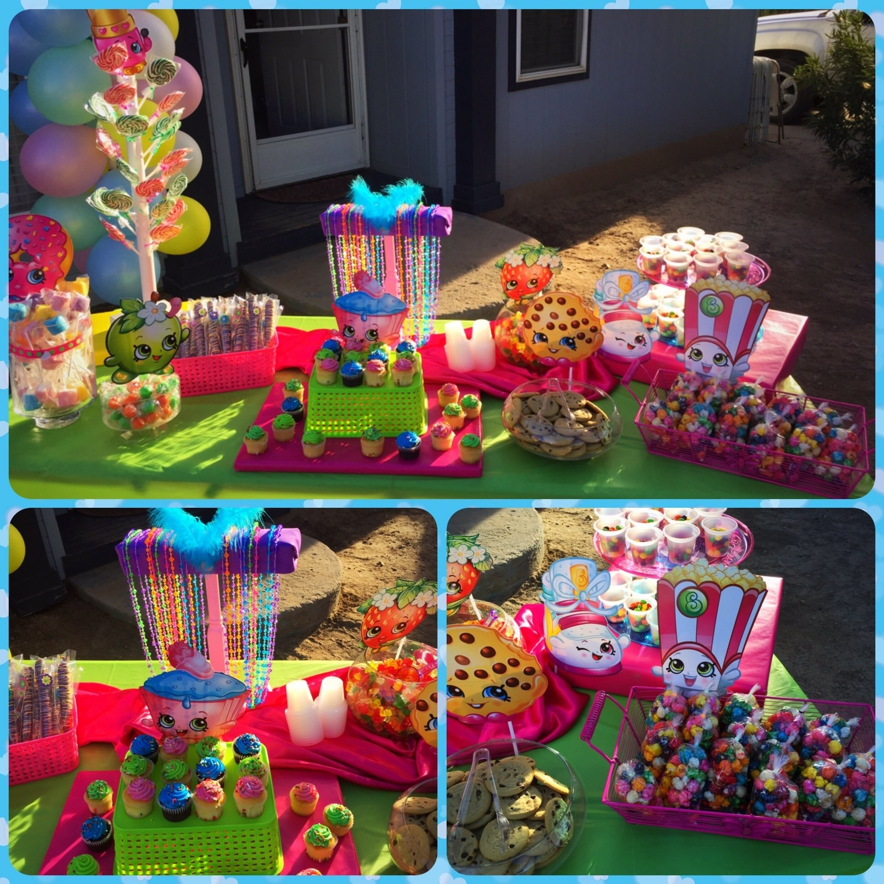 10 Ideal Candy Bar Ideas For Party shopkins birthday party candy bar buffet table shopkins party 2 2021