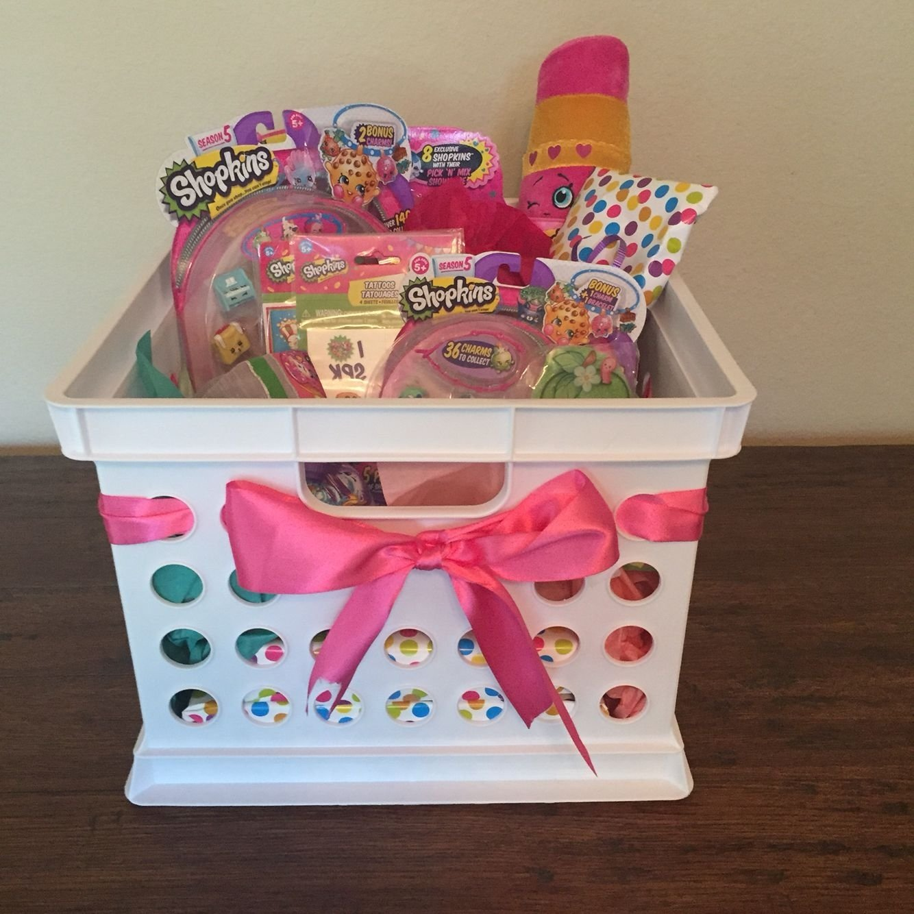 10 Fashionable Gift Basket Ideas For Kids shopkins gift basket diy pinterest shopkins gift and easter