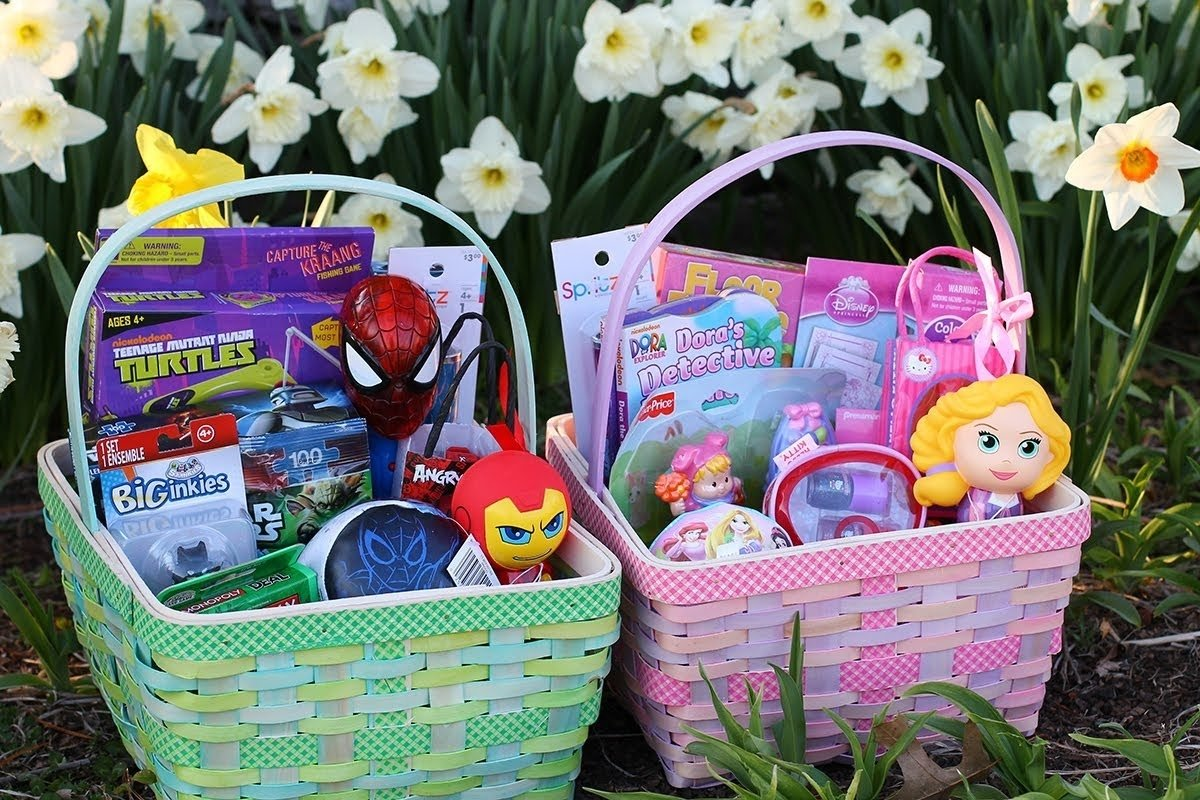 10 Ideal Ideas For Easter Basket Stuffers shopping target clearance for affordable easter baskets youtube 2020
