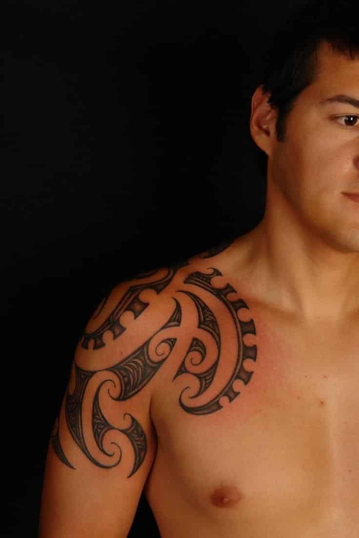 shoulder tattoos for men - designs on shoulder for guys