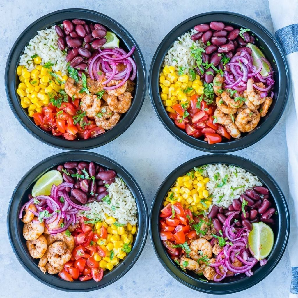 10 Pretty Clean Eating Meal Prep Ideas shrimp burrito meal prep bowls are perfect for clean eating meal 2020