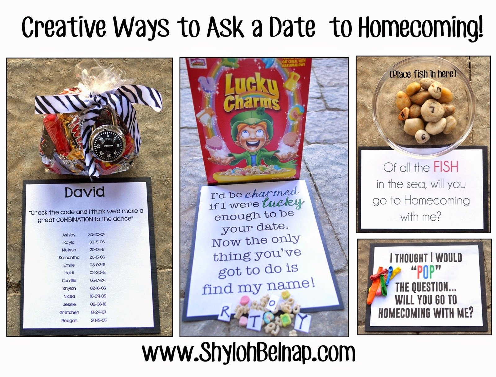 shyloh belnap: creative ways to ask a date to homecoming!