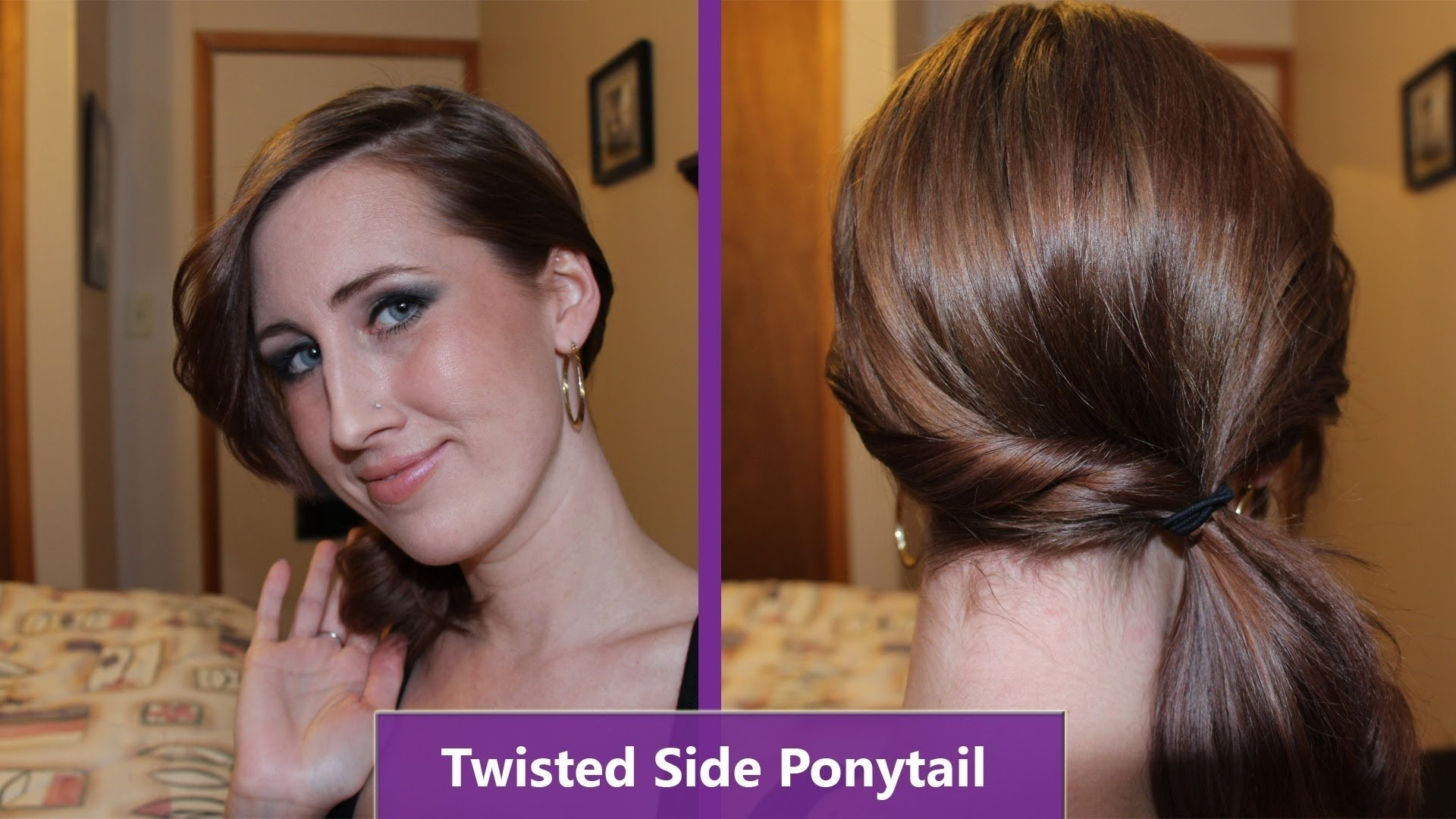 10 Unique Ponytail Ideas For Short Hair side ponytail for short hair youtube 2021