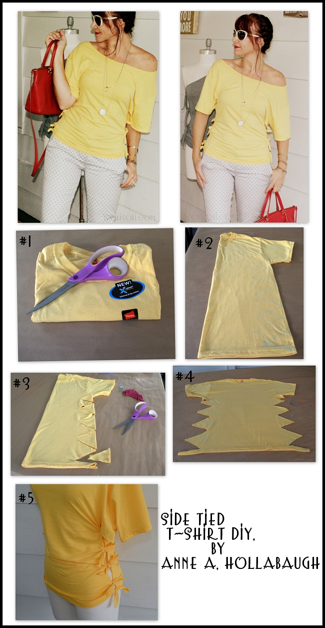 10 Lovely Ideas For Cutting T Shirts side tied shirt diy side ties diy clothes and clothes 2020