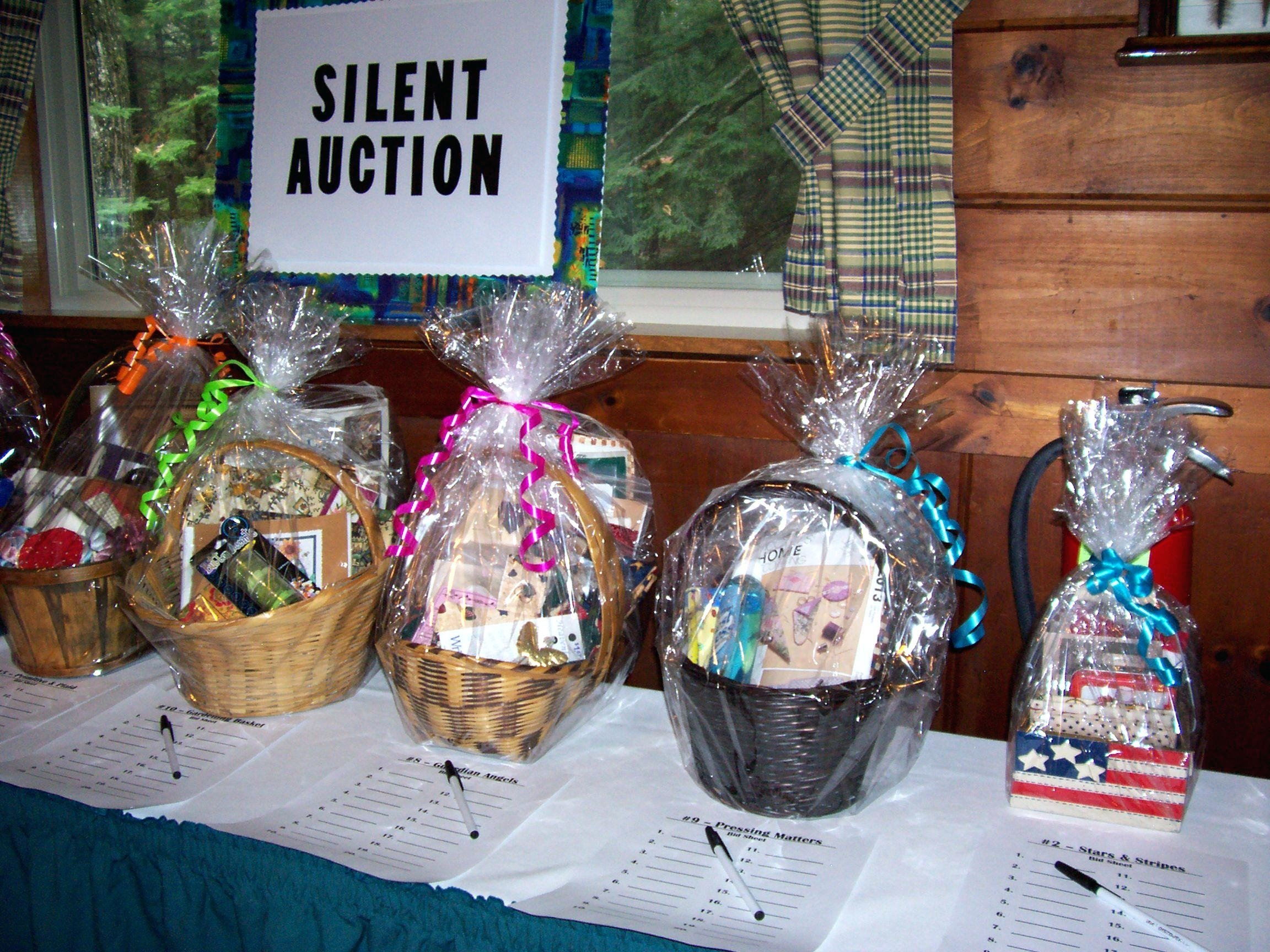 silent auction gift basket ideas n school theme fundraiser