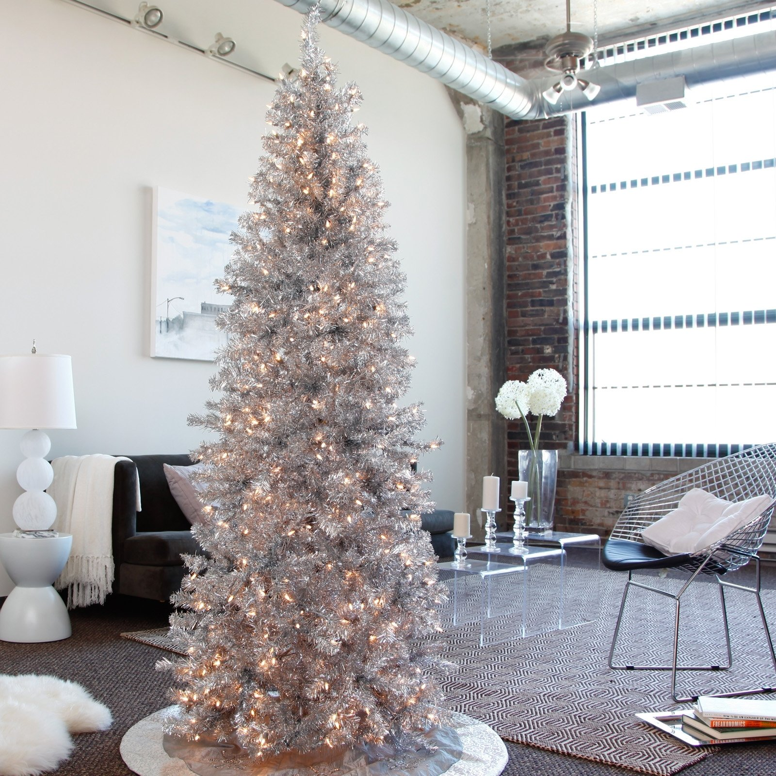 10 Perfect Modern Christmas Tree Decorating Ideas silver christmas tree ideas digsdigs idolza 2020