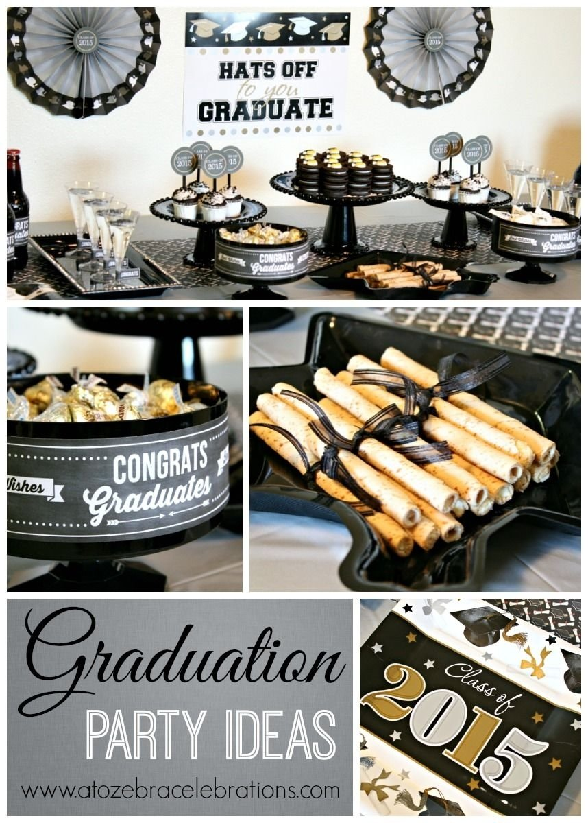 10 Pretty College Graduation Party Ideas For Adults silver gold graduation party ideas via atozebra its so simple