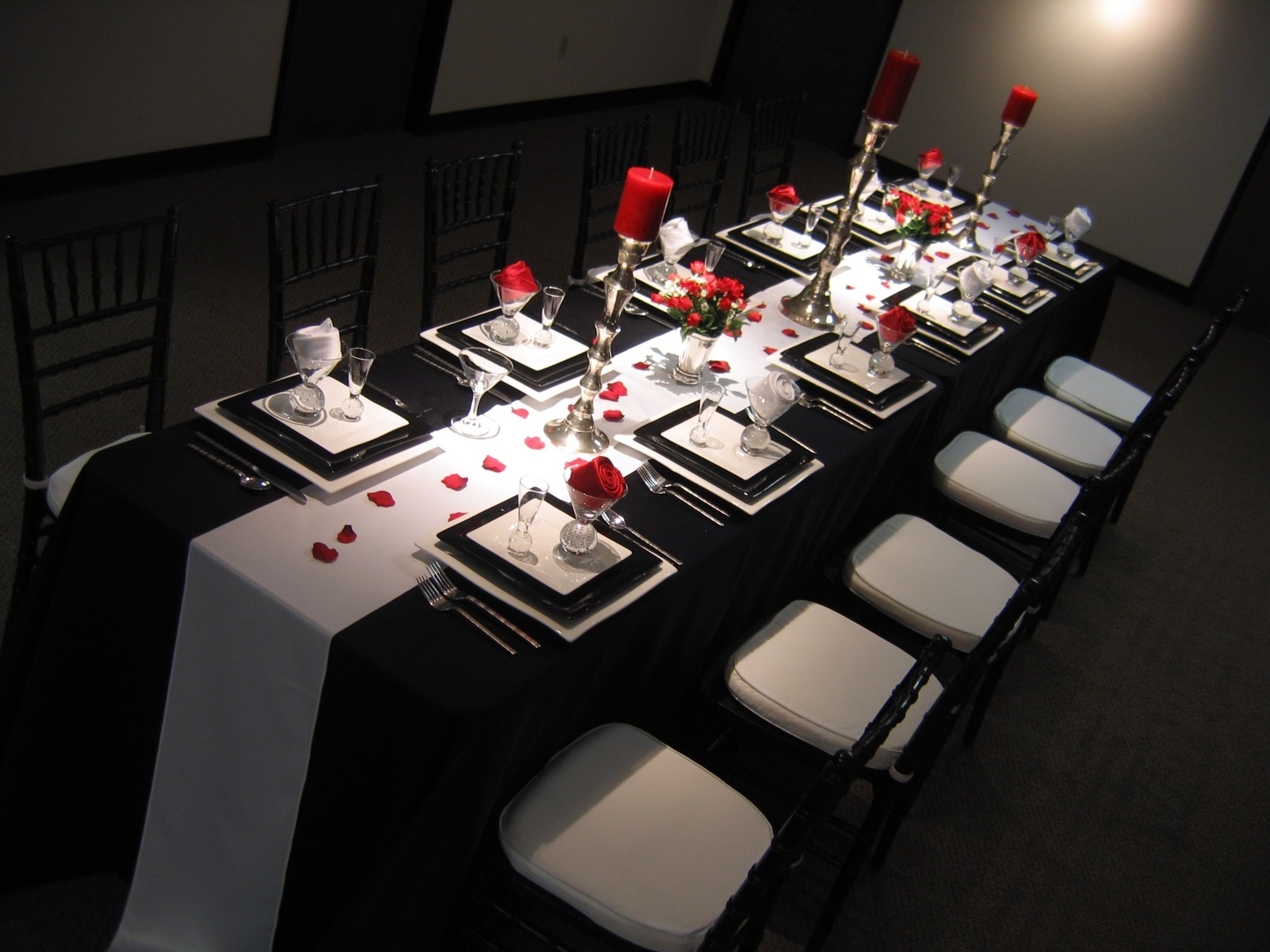 10 Fabulous Red Black And White Wedding Ideas silver wedding anniversary decorating ideas red black and white