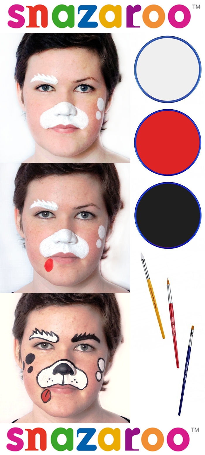 10 Cute Face Painting Ideas For Kids Step By Step simple and easy beginners face painting dog designemily parker
