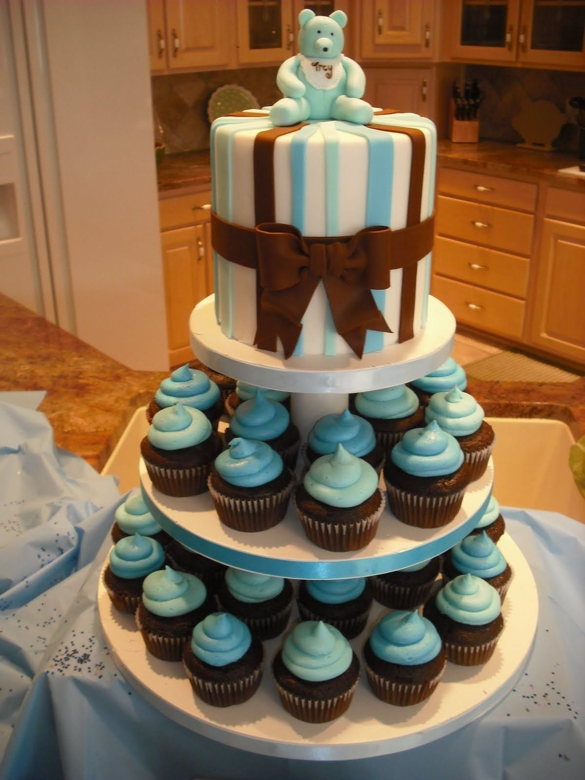 10 Trendy Baby Shower Cupcake Ideas For A Boy simple baby shower cake designs sprinklebelle baby boy shower