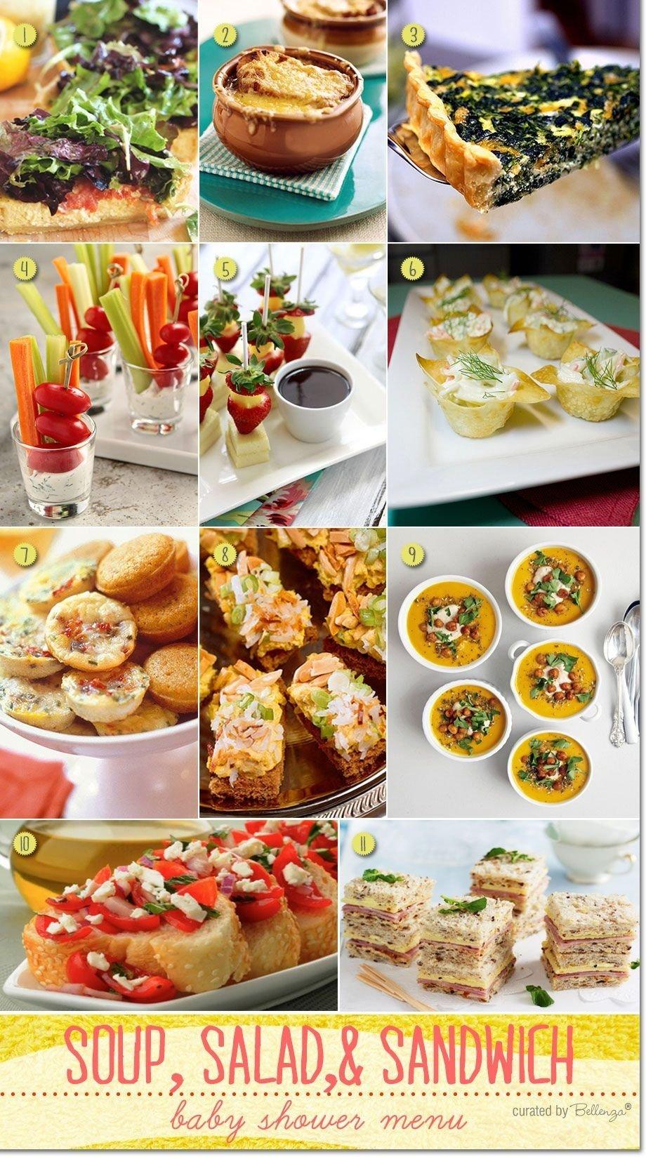 10 unique bridal shower luncheon menu ideas simple baby shower menu ideas baby shower menu simple
