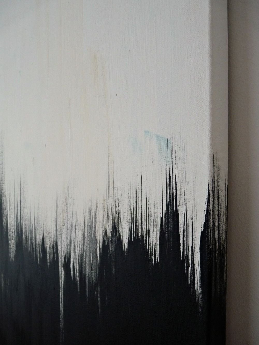 10 Ideal Black And White Painting Ideas simple but striking black white diy abstract painting diy art 2020