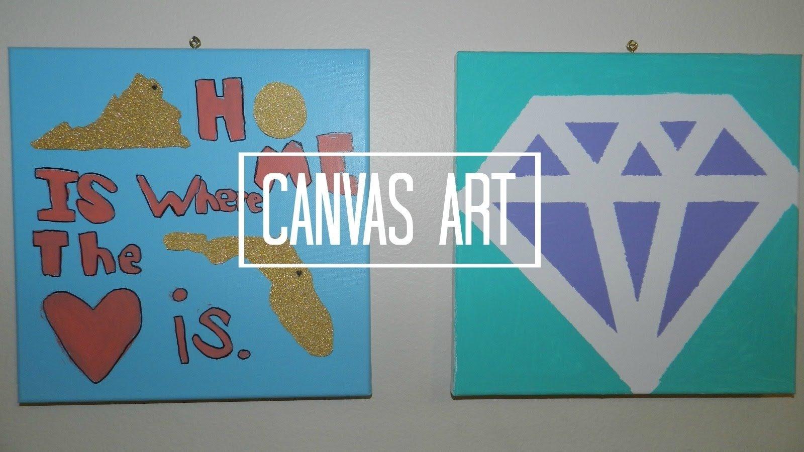 10 Stylish Easy Diy Canvas Painting Ideas simple canvas art beginners tierra este 12337 2 2020