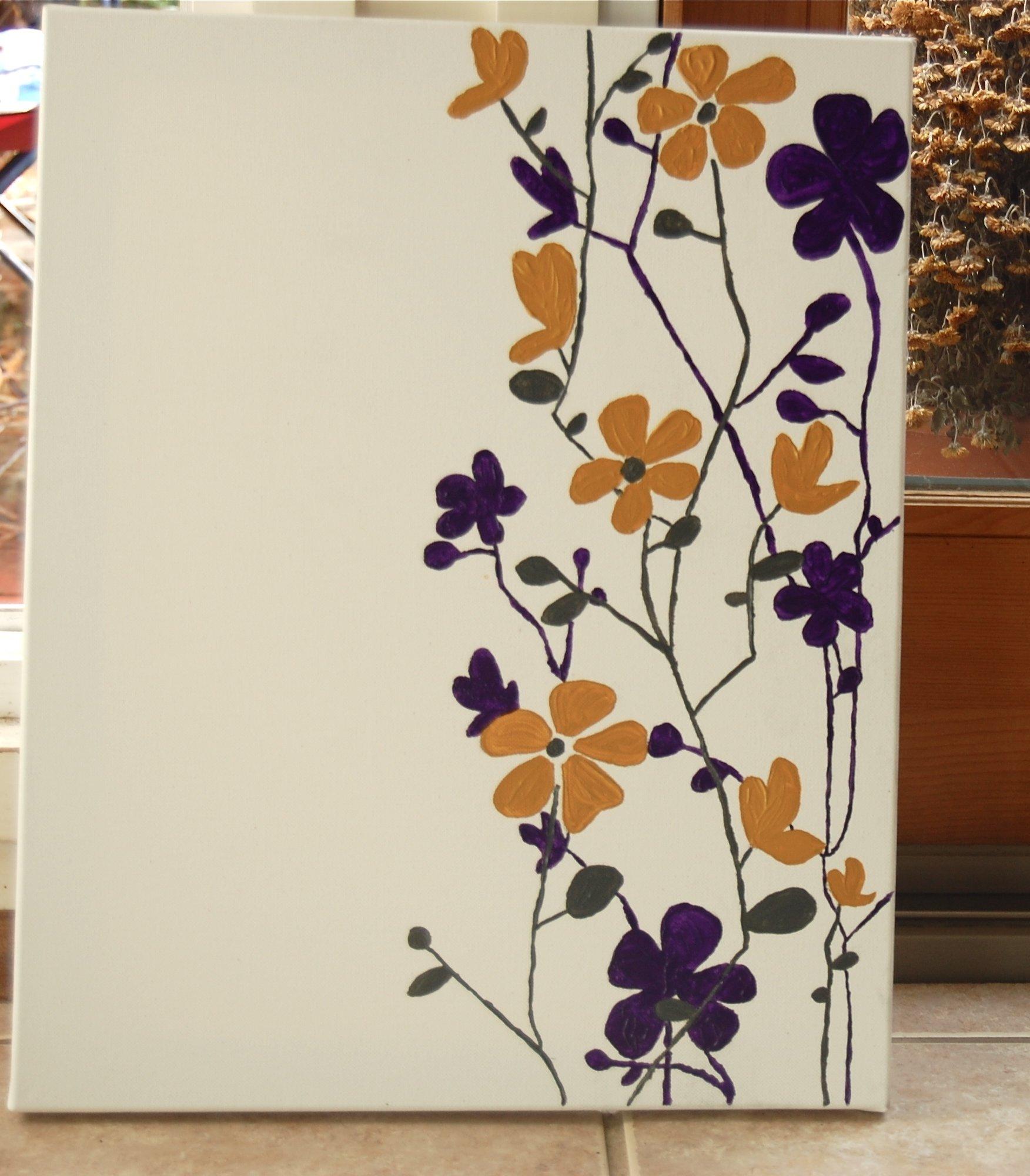 10 Stylish Easy Diy Canvas Painting Ideas simple canvas painting designs diy easy ideas home dma homes 91398 2020