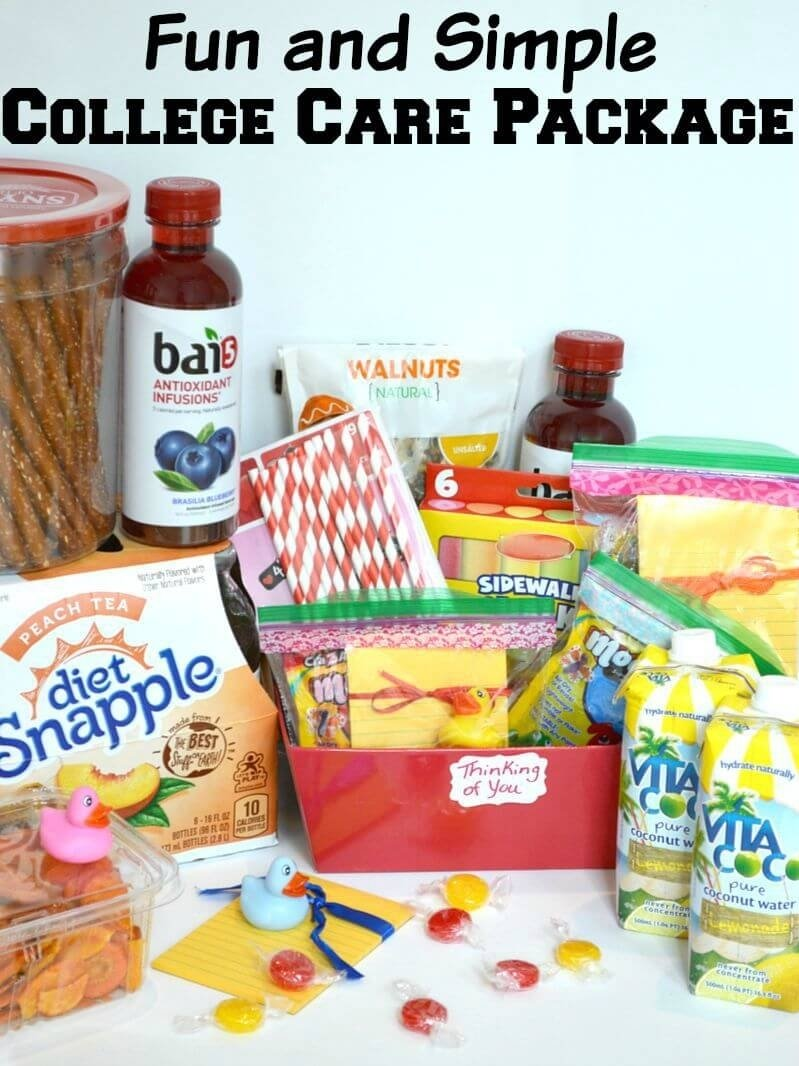 10 Fashionable Care Package Ideas For College Students simple college care package v