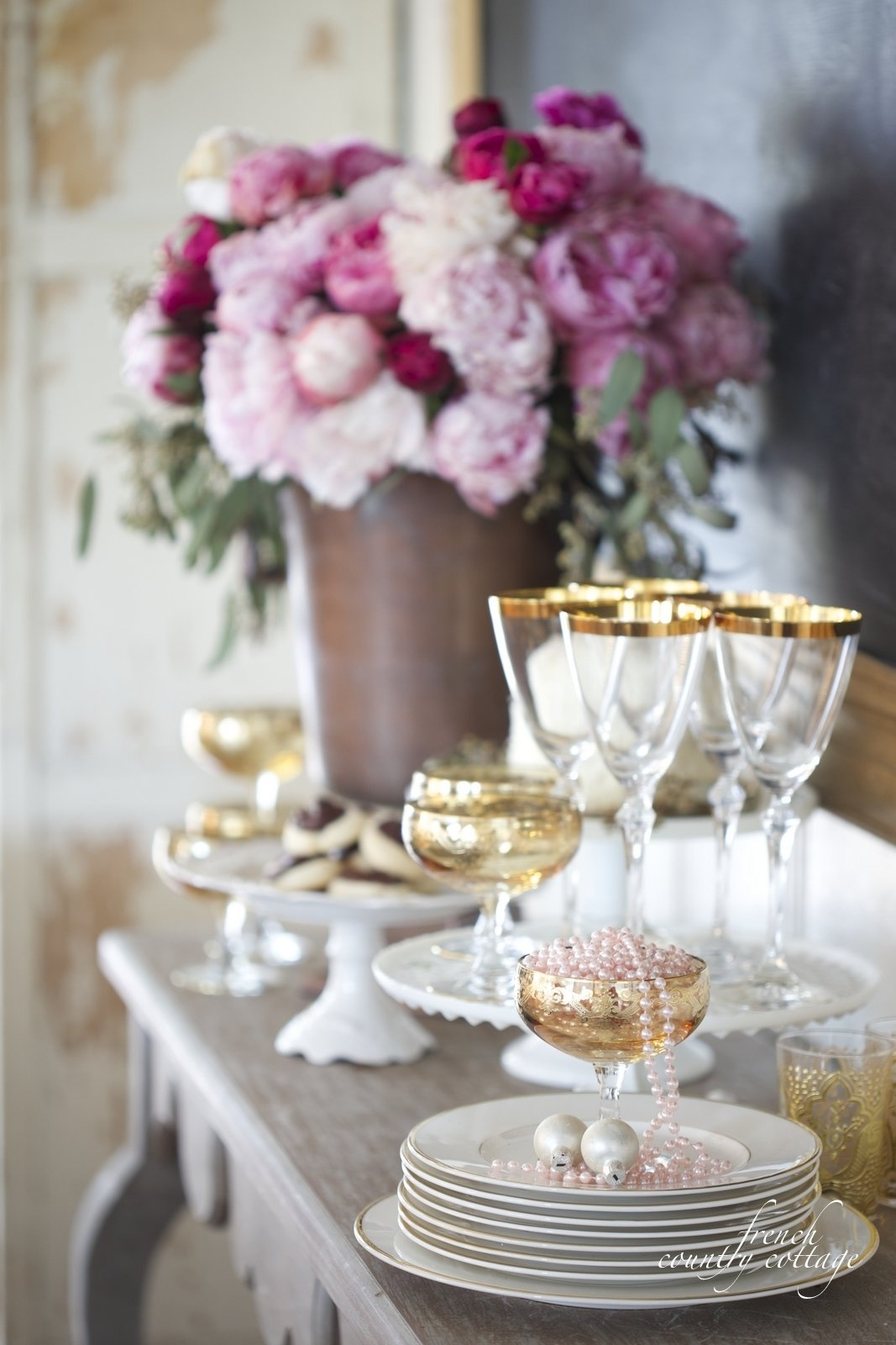 10 Fantastic Romantic New Years Eve Ideas simple elegance new years eve drink treat station french 2020