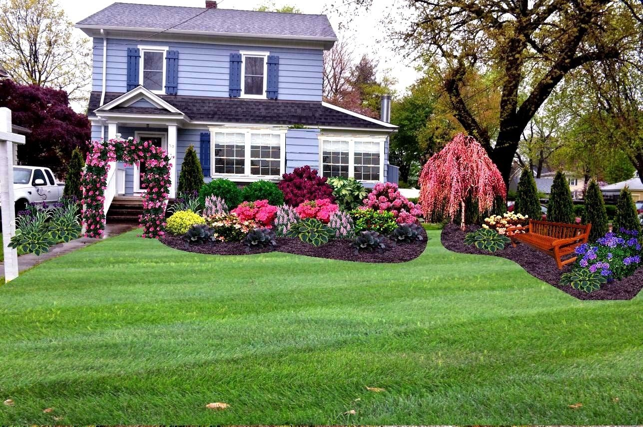 10 Attractive Simple Front Yard Landscaping Ideas Pictures simple front yard landscaping ideas design manitoba design easy