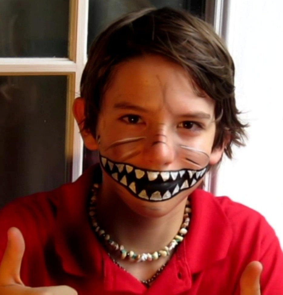 simple halloween face paintings for kids   makeup idea