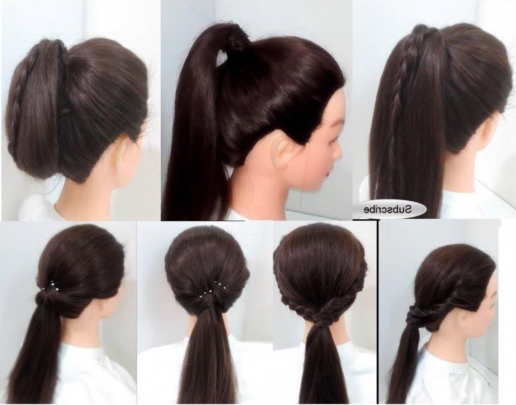 10 Unique Ponytail Ideas For Short Hair simple ponytail hairstyles for short hair beautiful long hairstyle 2021