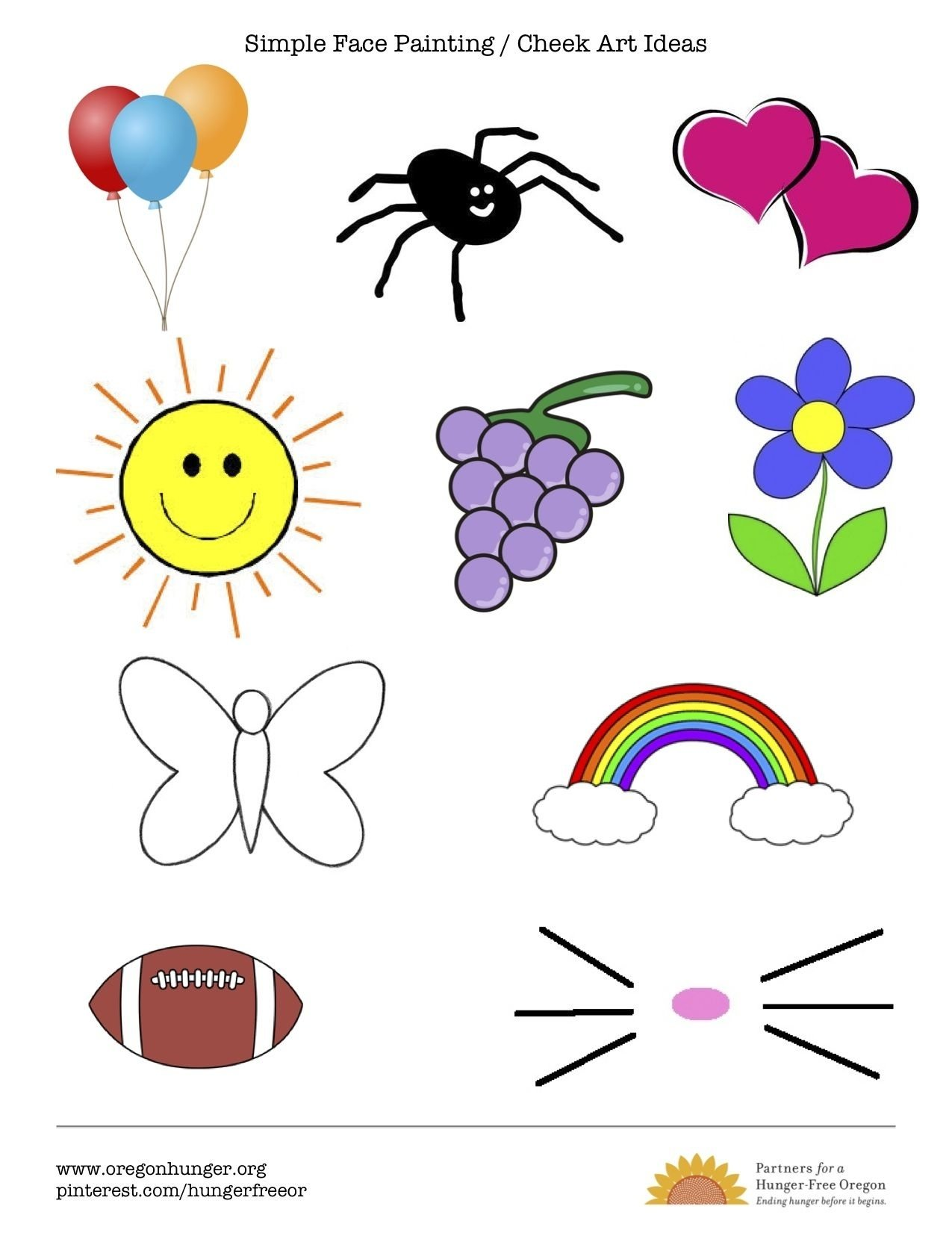 10 Fabulous Easy Face Painting Ideas For Kids Cheeks simple quick and easy face painting and cheek art ideas options