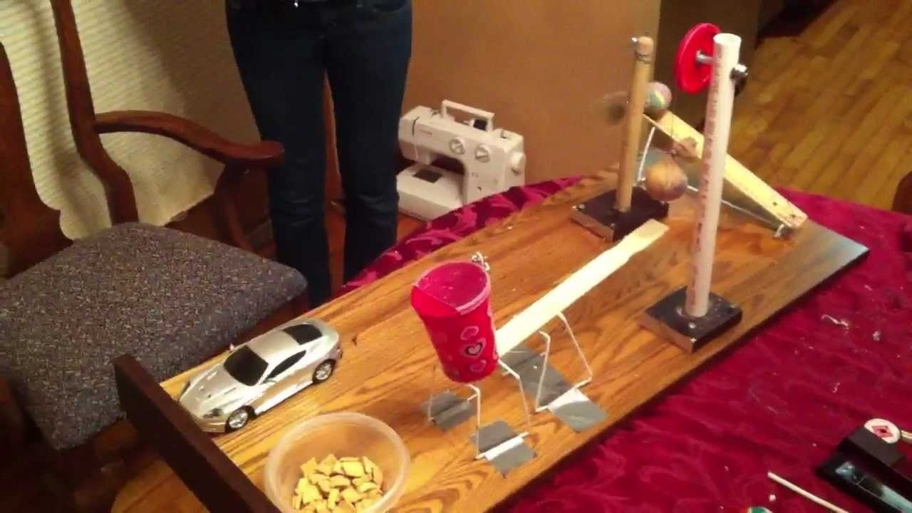 simple rube goldberg machine - pouring milk - youtube