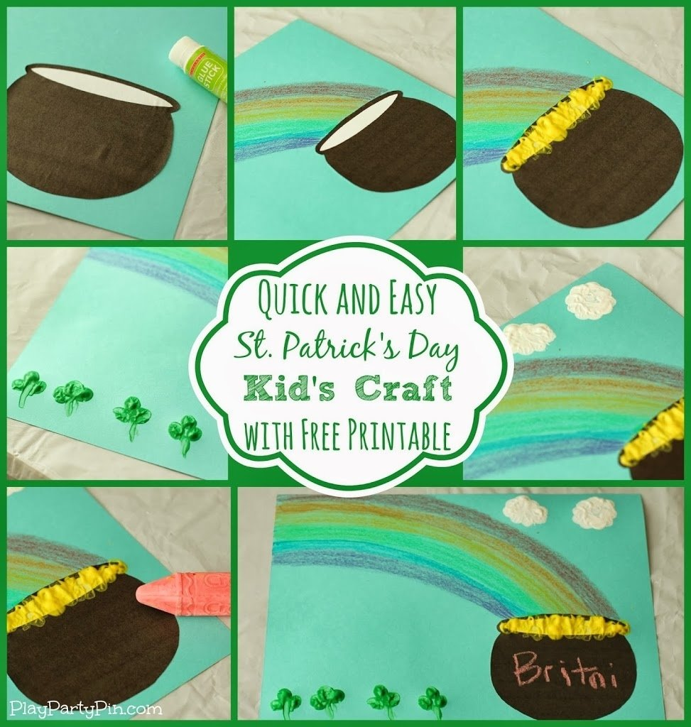 10 Cute St Patrick Day Craft Ideas simple st patricks day craft for kids with crayola play party plan 2021
