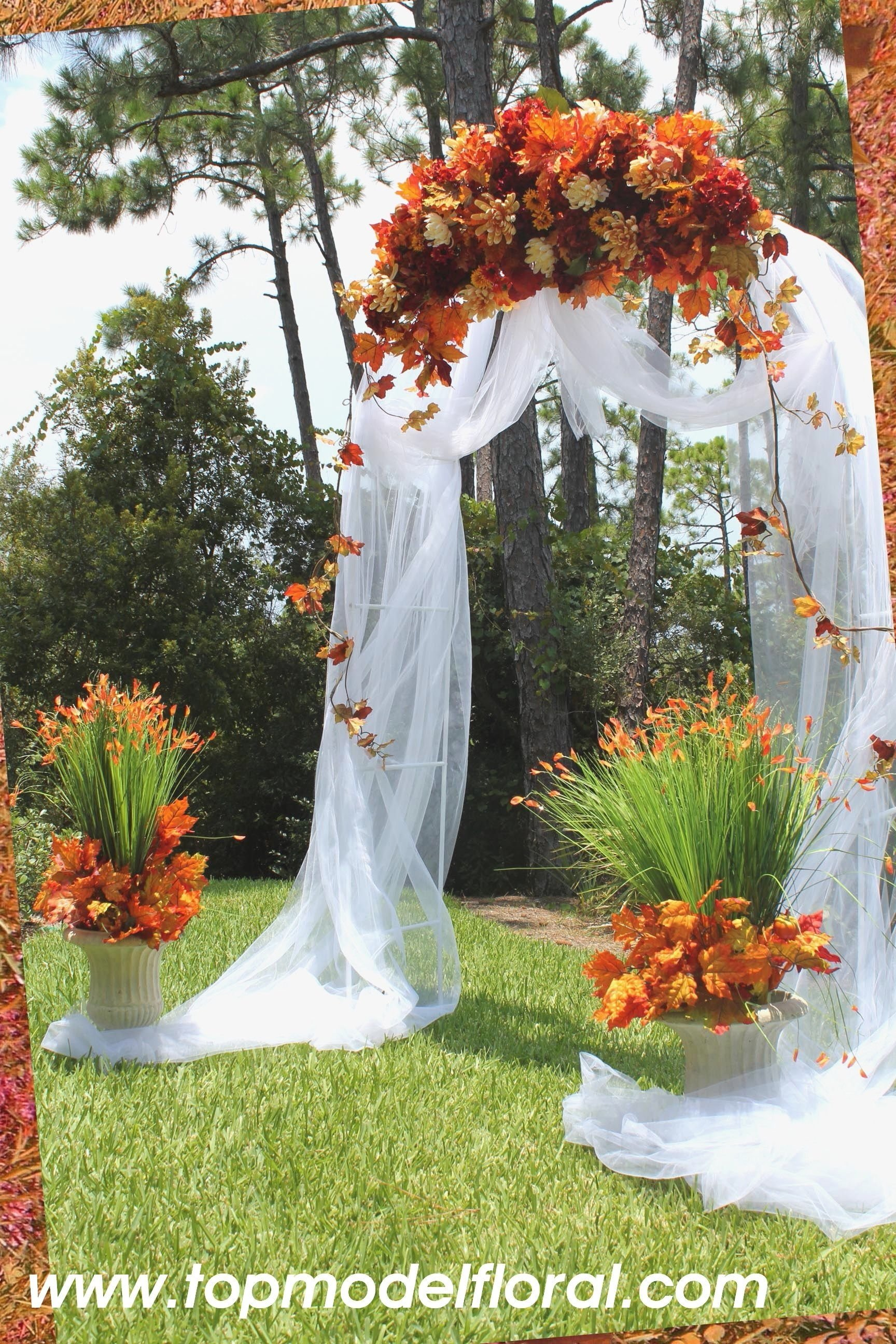 10 elegant simple wedding ideas for fall 10 elegant simple wedding ideas for fall simple ways to decorate wedding arch fall wedding arch junglespirit Image collections