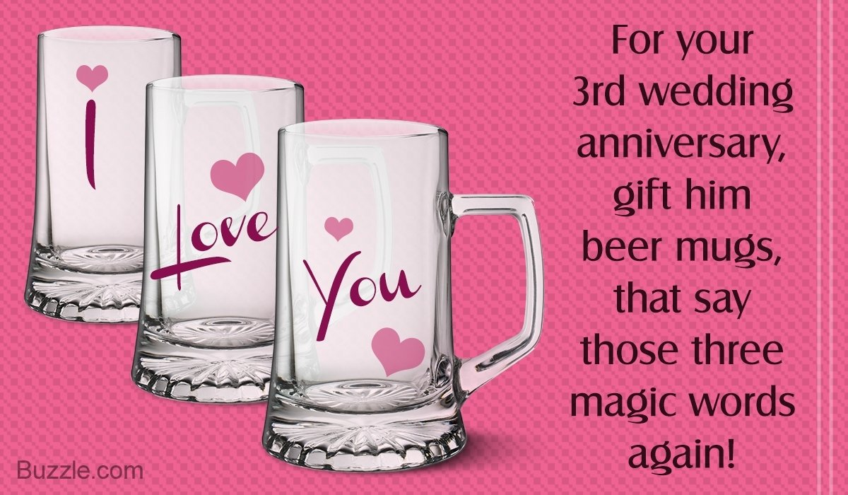 10 Stylish 3Rd Wedding Anniversary Gift Ideas For Him simply awesome 3rd wedding anniversary gift ideas for husband 2020