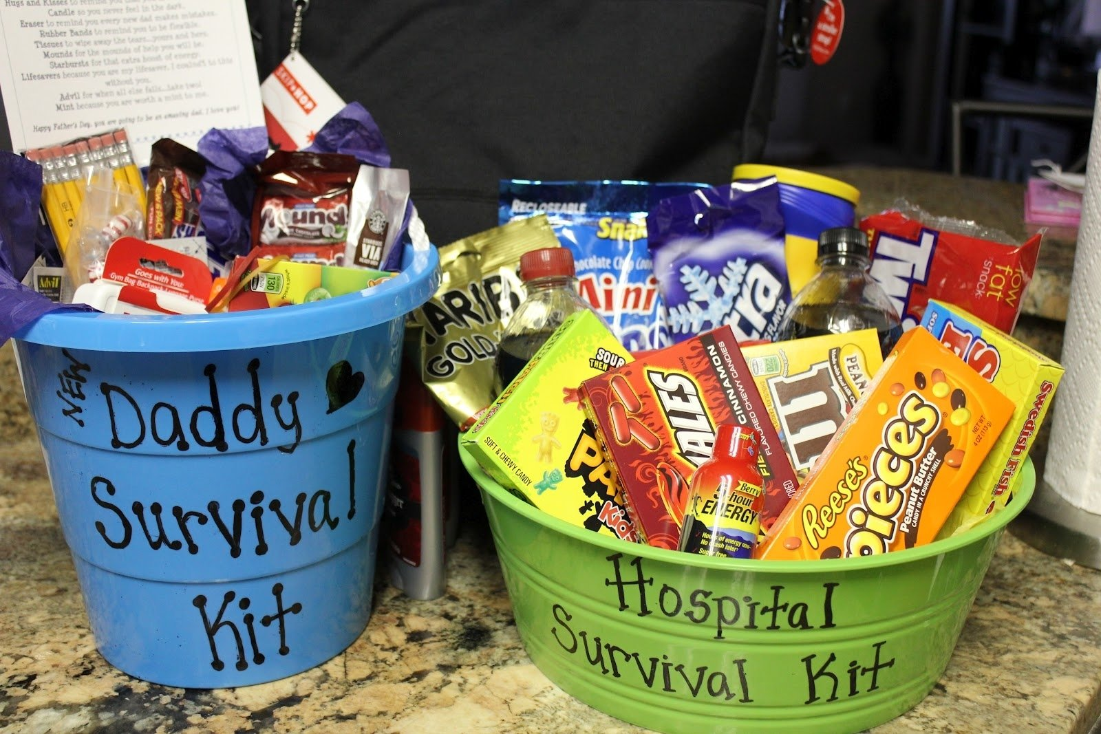 10 Ideal First Time Dad Gift Ideas simply made with love daddy survival kit hospital survival kit 2020