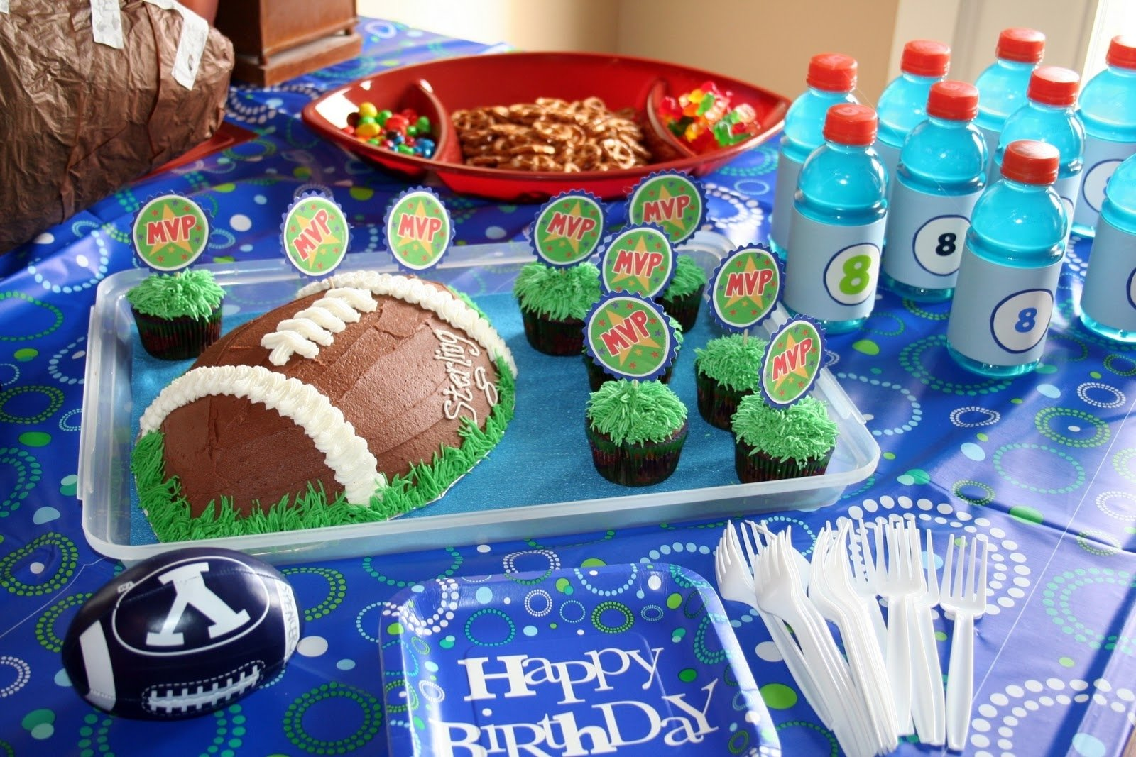 10 Stylish Football Party Ideas For Kids simply projects my sweet sons football party 2021