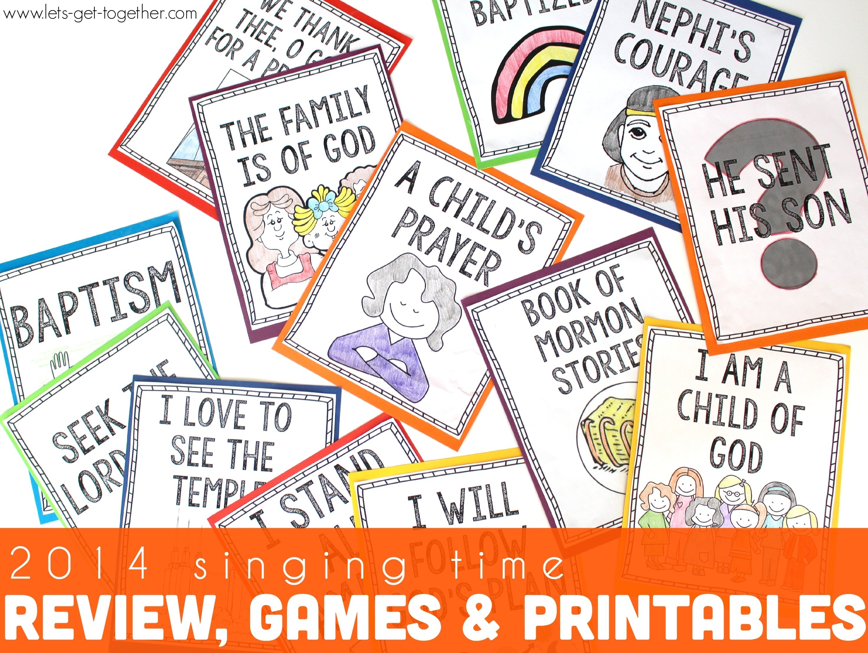 singing time program review games and ideas {free printables}