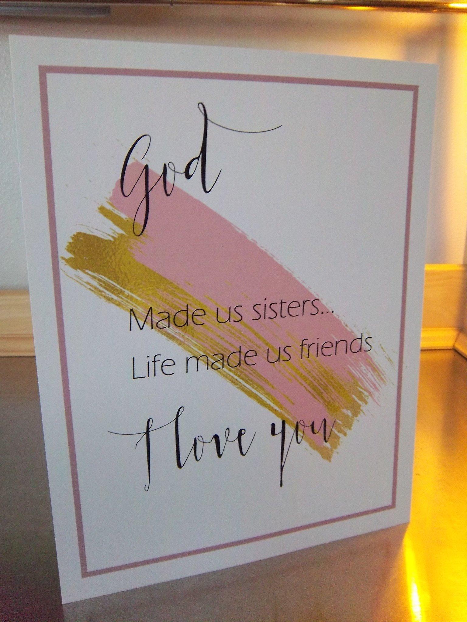 10 Gorgeous Birthday Gift Ideas For Sister sister art print unframed 8x10 poster sister prints bestseller wall 2021