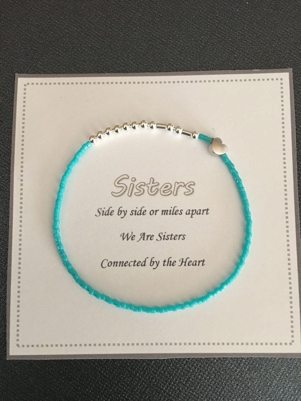 10 Most Popular Birthday Present Ideas For Sister sister braceletmorse code beaded braceletbracelet for herwomens 1 2021