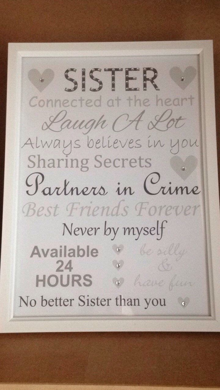 10 Cute Gift Ideas Sister In Law sister frame sister birthday present sister gifts sister ideas 2020
