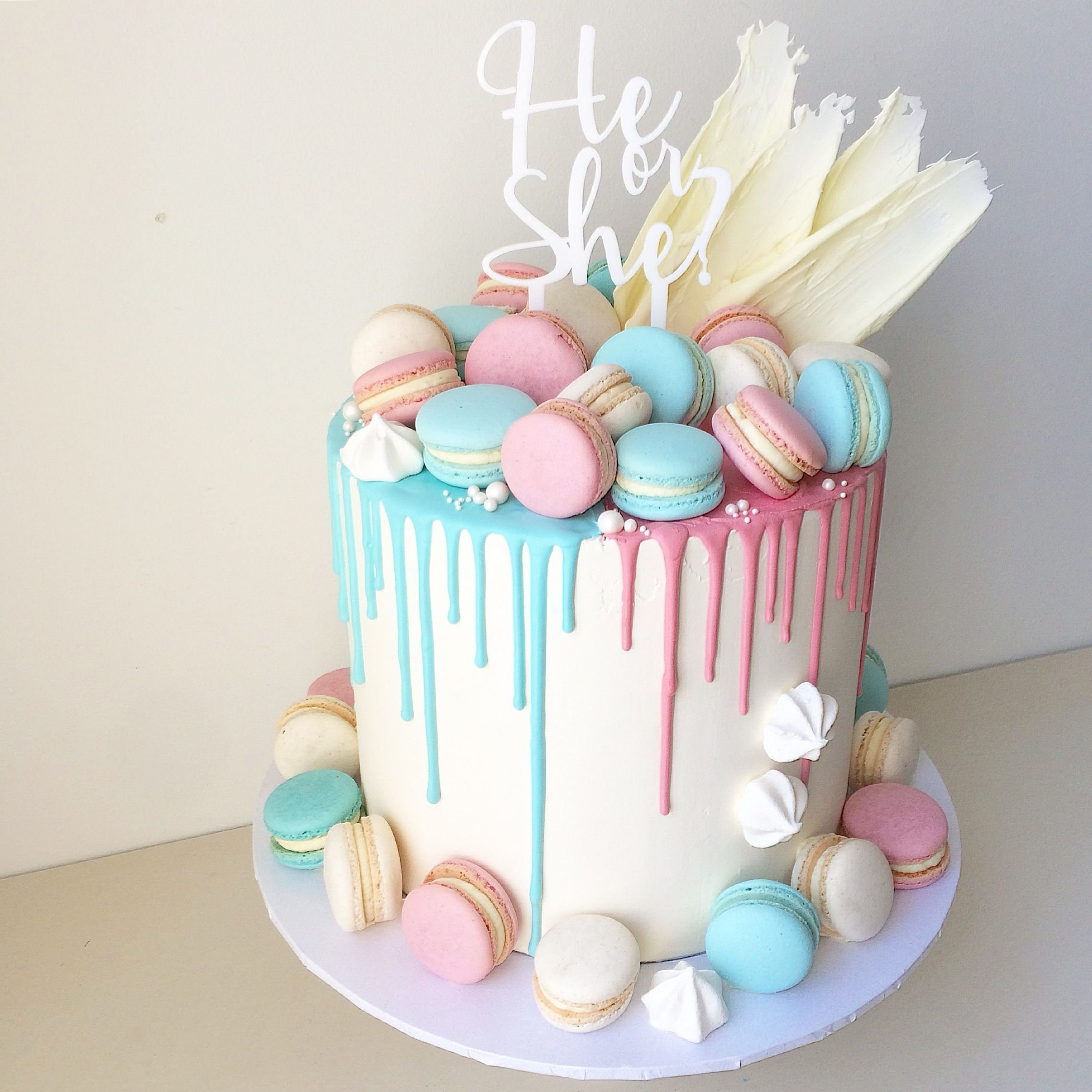 10 Beautiful Baby Gender Reveal Cake Ideas sister i am so happy your a baker lol i cant wait until you make 2020